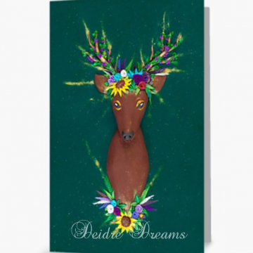 Deer in Flower Crown Greeting Card