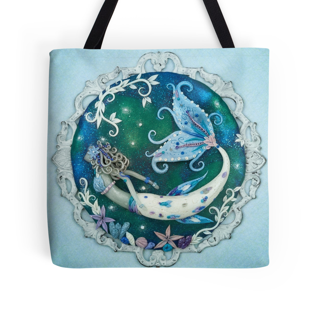 In Frozen Seas Mermaid Tote Bag